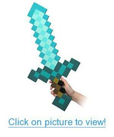 Exclusive Minecraft Foam Diamond Sword Product Features Roleplaying Foam Swords from the online Minecraft game. Product Description Exclusive Minecraft Foam Diamond Sword Find More Products Minecraft Diamond Sword, Minecraft Sword, Minecraft Toys, Cool Minecraft, Minecraft Party, Minecraft Beads, Minecraft Cake, Minecraft Crafts, Toy Art