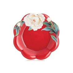 Venice Peony Cake Plate | Porcelain | Franz Collection