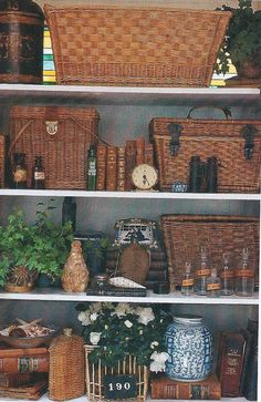 British colonial style with baskets