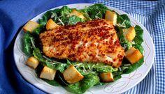 Ovnsbakt torsk passer godt med en frisk salat. Dette er en enkel og sunn middag. #fisk #oppskrift