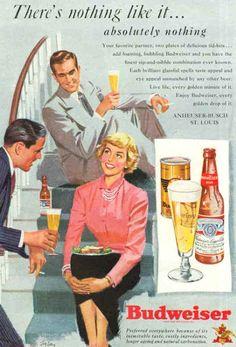 Vintage Beer Poster - Budweiser