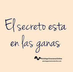 ¡Ese es el secreto!!!