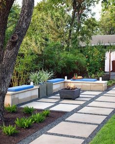 43 beautiful small backyard landscaping designs for tiny yards 28 Hardscape, Modern Backyard, Small Backyard, Modern Backyard Landscaping, Modern Garden