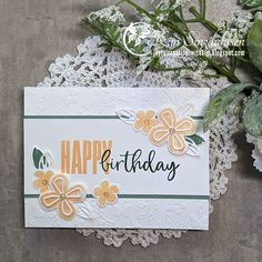 Cool Birthday Cards, Homemade Birthday Cards, Birthday Cards For Friends, Birthday Wishes, Stamping Up Cards, Global Design, Quick Cards, Perennials, Stampin Up