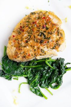 Ginger, garlic and red pepper add layers of flavor to my pan roasted swordfish and can be done easily by making a compound butter. A quick and easy dinner!