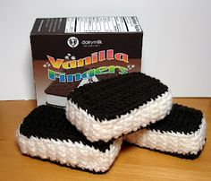Ice Cream Sandwiches - free crochet pattern