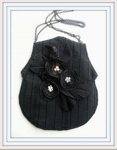 Victorian purse Black lace  purse Black coin purse by Blackpassion