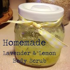 Lavender & Lemon Body Scrub made from ingredients found right at home!