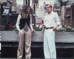 Diane Keaton and Woody Allen. Annie Hall by Woody Allen. Diane Keaton Woody Allen, Diane Keaton Annie Hall, Dianne Keaton, Best Romantic Comedies, Romantic Movies, Bridget Jones, Catherine Deneuve, Carol Kaye, Ralph Lauren