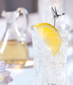 GREY GOOSE® Vodka Citronic:  GREY GOOSE® Le Citron 2 Parts and Tonic Water 1 Part.  Lemon to garnish.