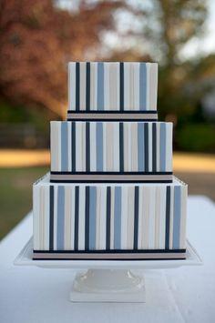 Striped #WeddingCake I Sara Gray photography I Cake Design I http://www.weddingwire.com/biz/ak-cake-design-portland/portfolio/83d4564348765be6.html?page=1&subtab=album&albumId=c8d31c1762b16e99#vendor-storefront-content