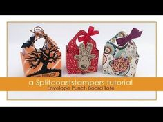 Envelope Punch Board Tote Tutorial - Splitcoaststampers Good wedding favor.  Easy to make