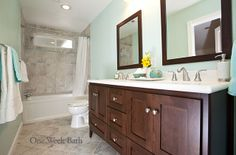 Updated Bathroom....would love to do this with our upstairs bath
