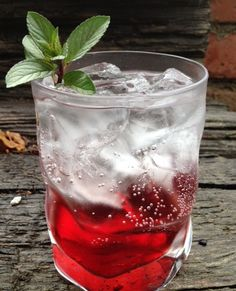 Chocolate Raspberry Sparkler - chocolate vodka & raspberry liqueur topped with soda water.  Cocktail or dessert?
