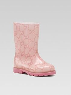 Gucci - Kid's Edimburg GG Rain Boots. Let your little girl dance in the rain with them on.