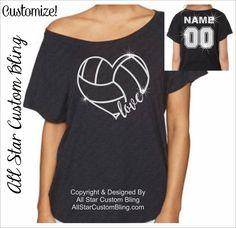 Love Volleyball Heart Dolman Off Shoulder Shirt, Volleyball Mom Shirt