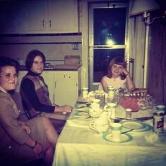 Vintage Photo 1960s Kitchen Interior With Girl And Women | Flickr - Photo Sharing!