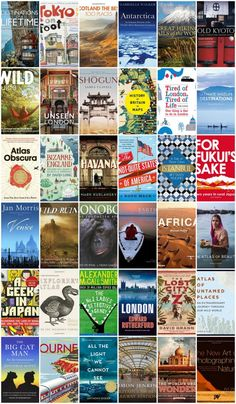 100+ Books for Globetrotters, Dreamers & Armchair Travellers