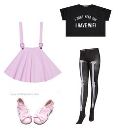 """""""Pastel Goth"""" by pipertehcat ❤ liked on Polyvore featuring Chantal Thomass"""