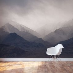 Misty Mountains Wall Mural