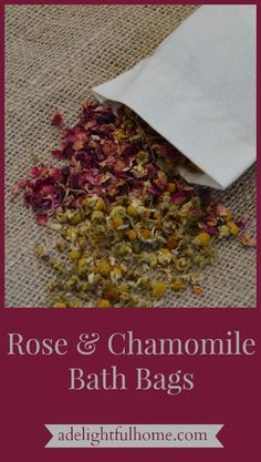 Adding rose and chamomile to the bath takes bathing to a new level. The herbs infuse the water, nourishing the skin. Read here to learn how to make your own DIY Rose and Chamomile Bath Bags. Bath Tea, Bath Recipes, Wellness, Diy Skin Care, Homemade Gifts, Homemade Beauty, Bath Salts, Diy Beauty, Body Care