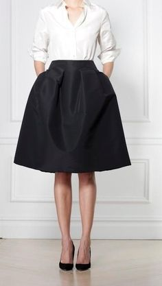 MINIMAL + CLASSIC: Carolina Herrera. All I'm missing is the money. And the shirt. And the skirt.