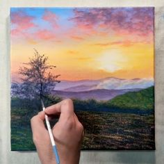 Simple Sunset Acrylic Painting For Beginners Painting on Canvas Step By Step Acrylic Beginners CANVAS Painting simple step Sunset DiyAbschnitt Diy Abschnitt # Simple Acrylic Paintings, Acrylic Painting Canvas, Acrylic Art, Canvas Art, Body Painting, Beach Canvas, Diy Canvas, Simple Oil Painting, Trippy Painting