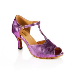 SALE! Purple snakeskin (faux) leather lined dance shoes by vivazdance on Etsy