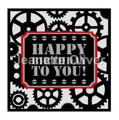 Cogs and Gears Topper & Aperture Card SVG Digital Cutting File by CraftaholicCreation on Etsy