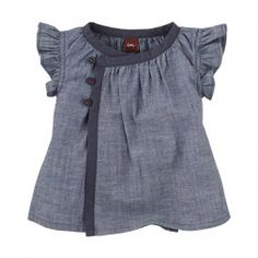 Citizen Chambray Wrap Tunic For Babies | Tea Collection