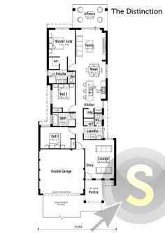 39 the award 39 floorplan 10m frontage 4x2 alfresco for 10m frontage home designs