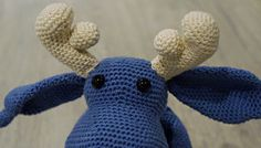 crocheted moose