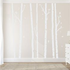 As furniture that is the trending of eyes in a room, birch tree wall decals highly determines the first sight which you will place for your room.
