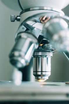 Microscope in Laboratory by KonstantinKolosov. Microscope in the Laboratory, modern close-up shot Medical Wallpaper, Biology Art, Medical Laboratory Science, Lab Tech, Student Motivation, Aesthetic Pictures, Chemistry, Future Career, Aesthetics