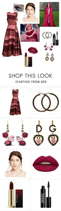 """Belle Pink Dress Winter Wear"" by mahayla-huff ❤ liked on Polyvore featuring Roksanda, Marni, Dolce&Gabbana, Jennifer Behr, Huda Beauty, Kevyn Aucoin and Edward Bess"