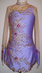 Ice Figure Skating dress/Twirling/Rhythmic gymnastics leotard Made to Fit   eBay