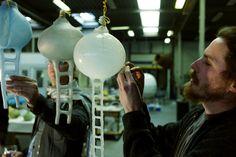 Nacho Carbonell, creating the Limited Edition 'Globe' for Booo. Photographed by Tatiana Uzlova.