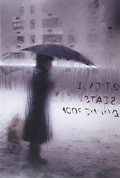 Saul Leiter: 'Snow (variant)'.