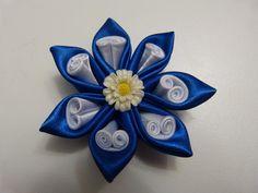tutorial moños y flores lazos en cinta para el cabello paso a paso.M...