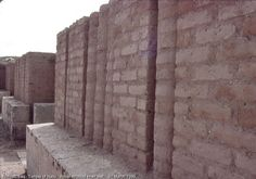 Nimrud, Iraq. Temple of Nabu. Reconstructed inner wall. 31 March 1989.