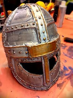 Project 104 - A Cardboard Helmet for the Cardboard Knight | A Make Per Day