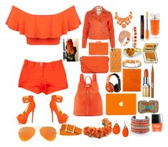 """Orange"" by btomsa ❤ liked on Polyvore"