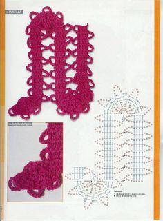 Comes in handy in free form crochet! Freeform Crochet, Thread Crochet, Filet Crochet, Crochet Motif, Lace Knitting, Crochet Lace, Irish Crochet Patterns, Crochet Chart, Crochet Designs