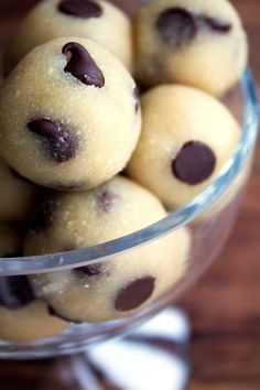 These chocolate chip cookie dough bites are paleo, vegan, and only take 5 minutes to make! Perfect for that emergency sweet tooth!