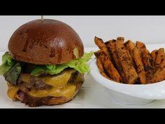 Mon Classic Gourmet Cheese Burger et ses Frites de patates douces à la plancha