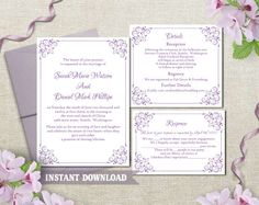 Wedding Invitation Template Download by TheDesignsEnchanted