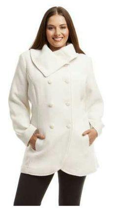 4bb4a2dd54dee Double breasted jacket Manteaux, Vêtements D extérieur Femmes, Mode Femmes  Rondes, Mode