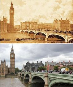 """I love """"then and now"""" photos.. I've bought """"then and now"""" books in many cities that I've visited."""