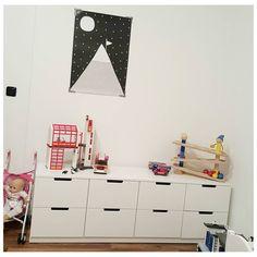 """""""#nordli macht sich super. Ich bin begeistert. I love it ❤ #ikea #kinderzimmer #langsamwirds #minivilla #haba #feuerwehr #playmobil"""""""