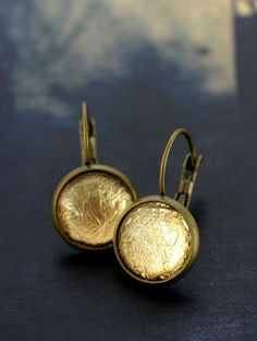 Gold Foil Earrings by Cloud Nine Creative  www.cloudninecreative.co.nz